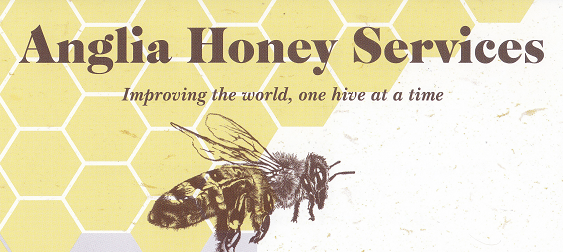 anglia honey services banner with a bee logo