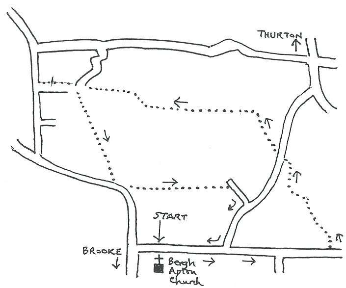 a hand-drawn map of the giant strides walk 1